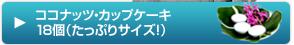 ココナッツ・カップケーキ18個(たっぷりサイズ!)