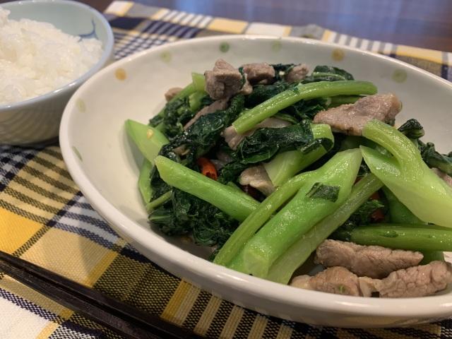 カイラン菜炒め