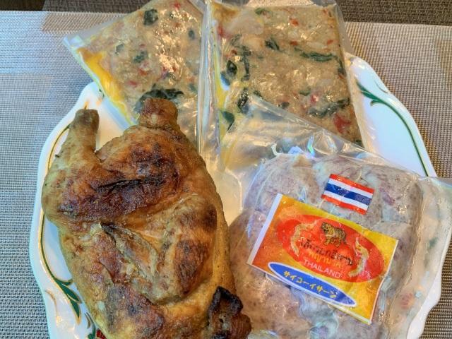 タイの肉肉セットサイコックイサ-ン